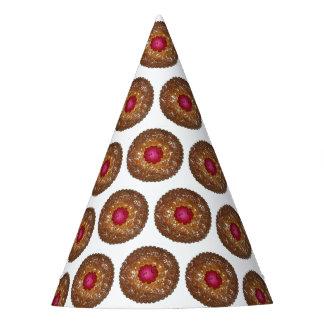 HimbeerenLinzer Torte-Weihnachtsplätzchen-Backen Partyhütchen