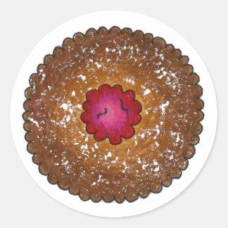 HimbeerenLinzer Torte-Weihnachtsplätzchen backen Runder Aufkleber