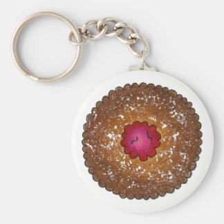 HimbeerenLinzer Torte-Weihnachtsplätzchen-Feiertag Schlüsselanhänger