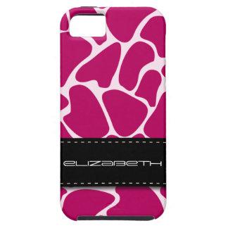 Himbeergiraffen-Tier-Muster iPhone 5 Schutzhülle