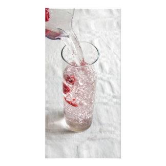 Himbeerwasser 3 personalisierte foto karte