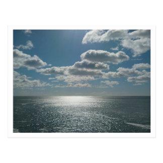 Himmel auf Erdpostkarte Postkarte
