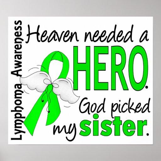 Himmel benötigte ein Held-Schwester-Lymphom Plakate