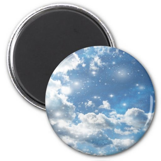 Himmel bewölkt Glitzern Magnets