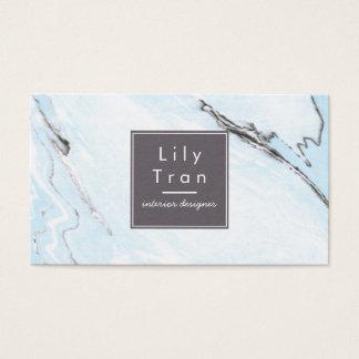 Himmel-Blau-Aquarell-Marmor-Visitenkarte Visitenkarte