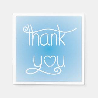Himmel-Blau dankt Ihnen Herz-Party-Servietten