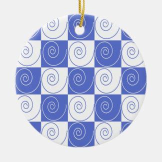 Himmel-Blau-MäuseSchwanz-Drehungen Keramik Ornament
