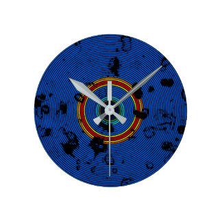 Himmel-Blau-mehrfarbiges Runde Wanduhr