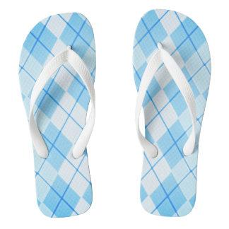 Himmel-Blau-Raute-Unisex Multi-Arten (C) Flip Flops