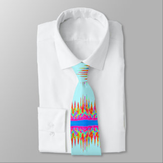 Himmel-Blau-Regenbogen-Magie-Farben Krawatte