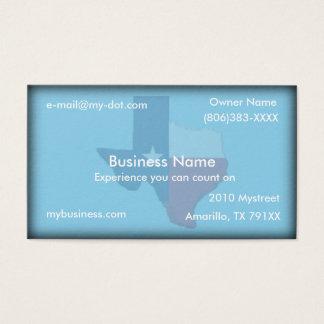 Himmel-Blau-Texas-Flaggen-Karten-Visitenkarte Visitenkarte