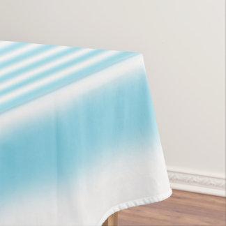 Himmel-Blau-und Weiß-Streifen Tischdecke