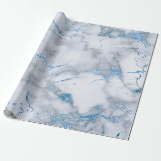 Himmel-Blau-weiße graue glänzende Geschenkpapier
