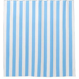 Himmel-Blau-weißer vertikaler Streifen NL #0 Duschvorhang