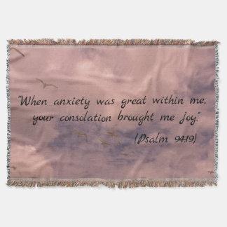 Himmel, der christlichen Psalm-94:19 Druck malt Decke
