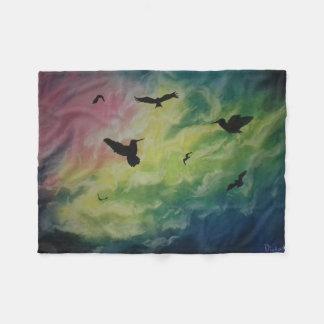 Himmel der Vögel Fleecedecke