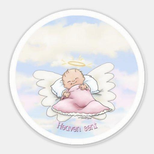 Himmel gesendet - Engels-Baby Aufkleber
