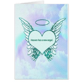 Himmel hat einen neuen Engel Karte