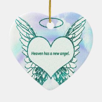 Himmel hat einen neuen Engel Keramik Ornament