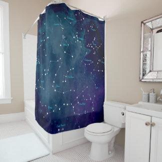 Himmel-Karten-Konstellations-Astronomie Duschvorhang