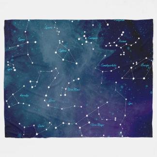 Himmel-Karten-Konstellations-Astronomie Fleecedecke