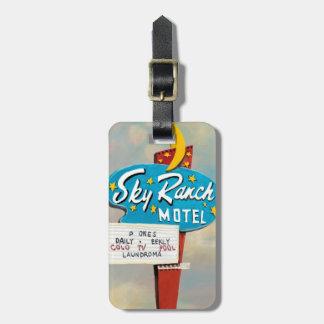 Himmel-Ranch-Motel-Zeichen Gepäckanhänger
