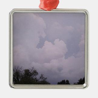 Himmel sind bewölkt silbernes ornament