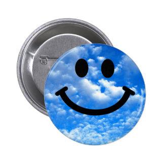 Himmel-smiley Runder Button 5,7 Cm