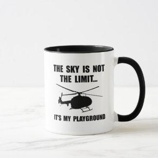 Himmel-Spielplatz-Hubschrauber Tasse