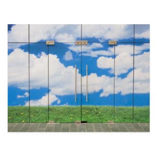 Himmel-Tür Postkarte