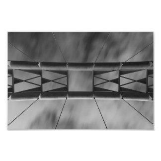 Himmel über Humber Bucht-Bogen-Brücke Fotodruck