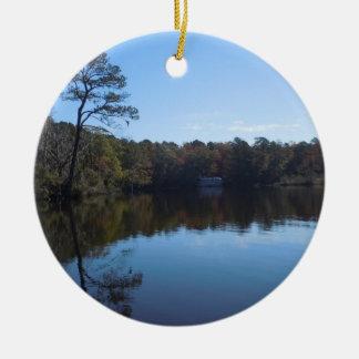 Himmel-und Wasser-Reflexionen - Beaufort County NC Keramik Ornament
