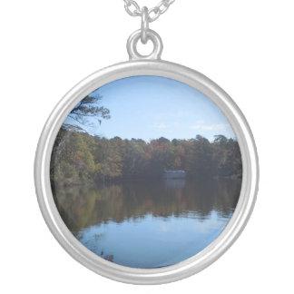 Himmel-und Wasser-Reflexionen - Beaufort County NC Versilberte Kette