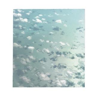 Himmel und Wolken Notizblock
