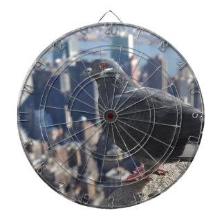 Himmel Vogel-New York City Manhattan USA städtisch Dartscheibe