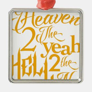 Himmel zu ja silbernes ornament