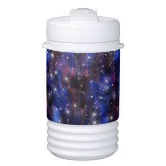 Himmelbild der Galaxie starry lila schöne Nacht Igloo Getränke Kühlhalter