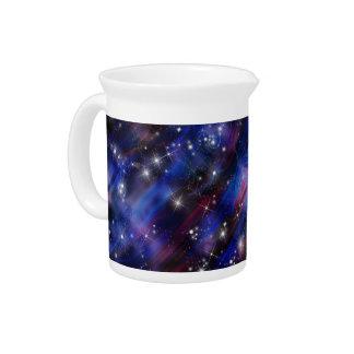 Himmelbild der Galaxie starry lila schöne Nacht Krug