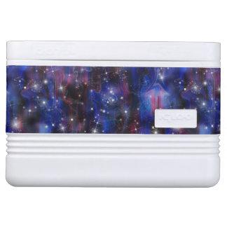 Himmelbild der Galaxie starry lila schöne Nacht Kühlbox