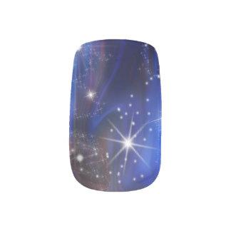 Himmelbild der Galaxie starry lila schöne Nacht Minx Nagelkunst