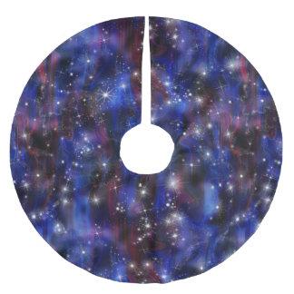 Himmelbild der Galaxie starry lila schöne Nacht Polyester Weihnachtsbaumdecke