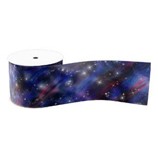 Himmelbild der Galaxie starry lila schöne Nacht Ripsband