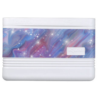 Himmelbild der Galaxie sternenklares rosa schöne Igloo Kühlbox