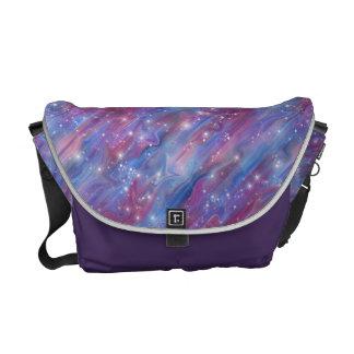 Himmelbild der Galaxie sternenklares rosa schöne Kurier Tasche