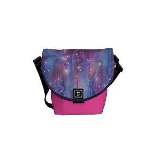 Himmelbild der Galaxie sternenklares rosa schöne Kurier Taschen