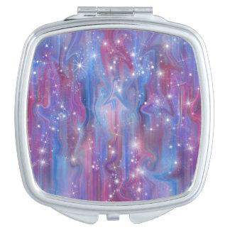 Himmelbild der Galaxie sternenklares rosa schöne Taschenspiegel