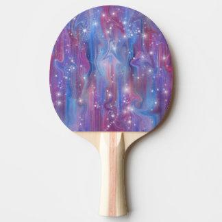 Himmelbild der Galaxie sternenklares rosa schöne Tischtennis Schläger