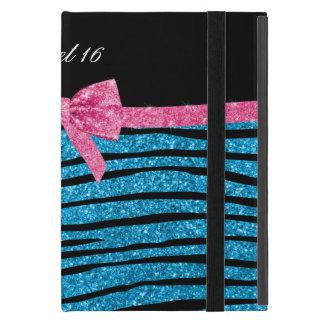 Himmelblau-Glitter Zebrastreifen des Bonbons 16 Schutzhülle Fürs iPad Mini
