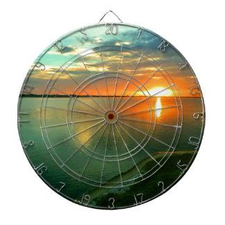 Himmelhoher Sonnenuntergang Dartscheibe
