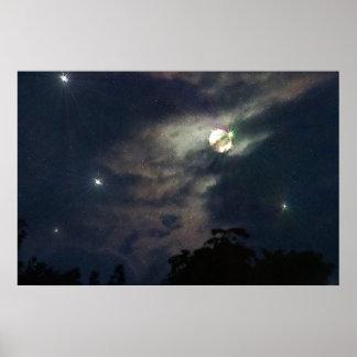 Himmels-Mond spielt Photograhy Druck die Poster